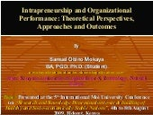 Paper on intrepreneurship and organ...