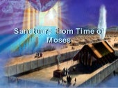 Sanctuary at Time of Moses