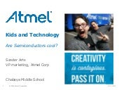 Sander Arts on semiconductors and Atmel at Chaboya Middle School