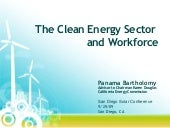 The Clean Energy Sector and Workforce