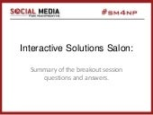 SM4NP, San Francisco, 2014: Interactive Solutions Salon recap