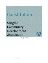 Sangale development association con...