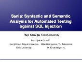 Sania: Syntactic and Semantic Analy...