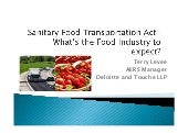 USA Sanitary Food Transportation Act