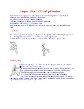 Sanjeev s karate warm up exercises