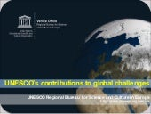 OBC | UNESCO's contribution to glob...