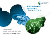 Nordic Cleantech Strongholds - Sant...