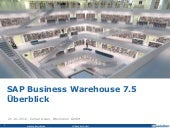 SAP Business Warehouse 7.5 – Overview (Level 1)
