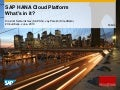 SAP HANA Cloud Platform - what's in it for SAP Partners?