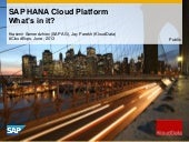 SAP HANA Cloud Platform - what's in...