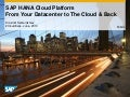 SAP HANA Cloud: From Your Datacenter to the Cloud and Back