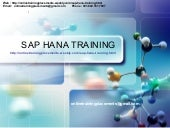 SAP HANA Training | SAP HANA Online...