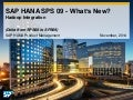 SAP HANA SPS09 - Hadoop Integration