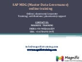 Sap mdg(master data governance) online training