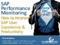 SAP Performance Monitoring