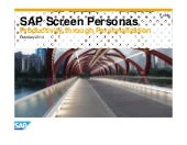 SAP Screen Personas - February 2014
