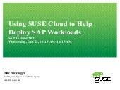 Running SAP on SUSE Cloud 2.0