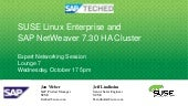 SUSE Linux Enterprise and SAP NetWe...