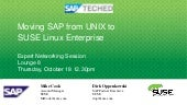 Moving SAP from UNIX to SUSE Linux ...