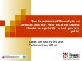 The Experience of Poverty in an Unequal Society - Sarah Welford