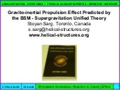 Gravito-inertial Propulsion effect ...