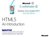 HTML5 Intoduction for Web Developers