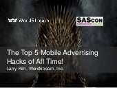 The Top 5 Mobile Advertising Hacks of All Time