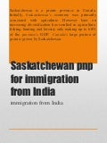 Saskatchewan pnp for immigration from india