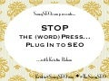 Stop the (Word)Press, PlugIn to SEO