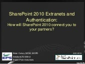SharePoint 2010 Extranets and Authe...