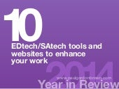 EDtech/SAtech Tools and Websites to Enhance Your Work (2014)