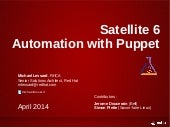Red Hat Satellite 6 - Automation wi...