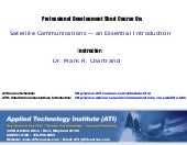 ATI Courses Satellite Communication...