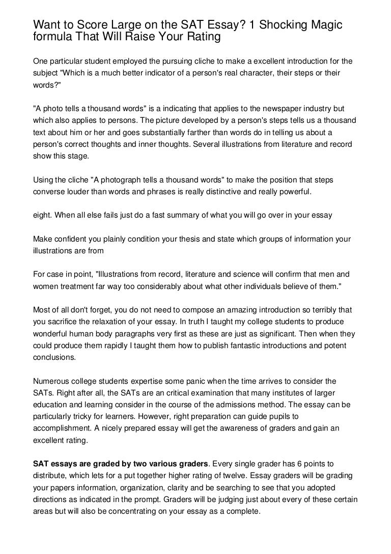 tips for sat essay