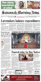 Savannah Morning News Front Page, June 10, 2013
