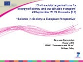 Science in Society: a European Pers...