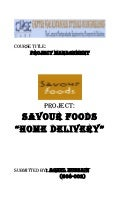 Project on savor food Pakistan home delivery report.