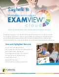 Say hello to examview cloud