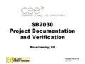 SB2030 Project Documentation and Verification