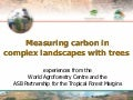 Measuring Carbon in Complex Landscapes with Trees - ICRAF and ASB at UNFCCC SB32