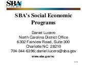 SB Outreach Event (SBA)