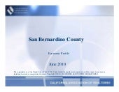 San Bernardino Economic Report June...