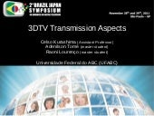 3DTV Transmission Aspects