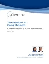 [Report] The Evolution of Social Business: Six Stages of Social Media Transformation, by Charlene Li and Brian Solis