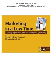 Marketing in a 'Low' Time: Smarter ...