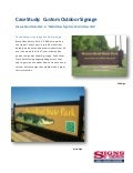 Custom Outdoor Signage: Brazos Bend State Park and A Private Cruise Line - Signs By Tomorrow Case Studies