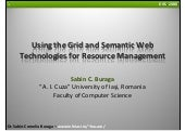Using the Grid and Semantic Web Tec...