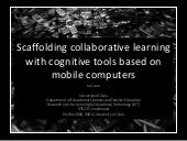 Scaffolding collaborative learning ...