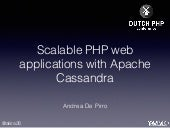 Scalable PHP Applications With Cassandra