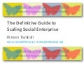 The Definitive Guide to Scaling Social Enterprise